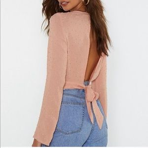 Tops - SOLD//Nasty Gal | Open up to me Peach top